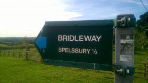 Dean to Spelsbury 1/2 a mile