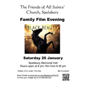 Black Beauty – Family Film evening at Spelsbury Saturday 20th January